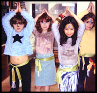 Children posing after their belly dance lesson in New York City