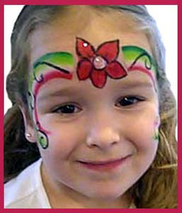 Girls in Long Island NY love this face painting--flower rainbow crown