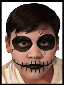 Skeleton face painting is popular with older kids at parties NYC NY NJ CT
